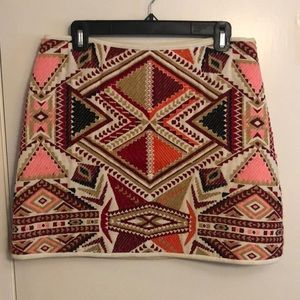 Topshop multi colored skirt